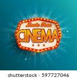 movie time cinema premiere... | Shutterstock .eps vector #597727046