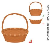 front of basket  and back of... | Shutterstock .eps vector #597727103
