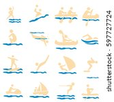 water sport. icon  icon set ... | Shutterstock .eps vector #597727724