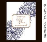 romantic invitation. wedding ...   Shutterstock .eps vector #597739373