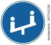 children playground sign blue.... | Shutterstock .eps vector #597741230