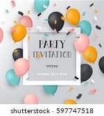 happy birthday party... | Shutterstock .eps vector #597747518