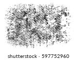 grunge black and white urban... | Shutterstock .eps vector #597752960