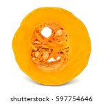 A Slice Of Pumpkin Isolated On...