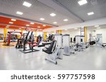 interior of a fitness hall | Shutterstock . vector #597757598