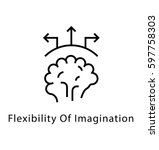 flexibility of imagination... | Shutterstock .eps vector #597758303