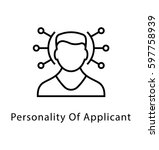 personality of applicant vector ... | Shutterstock .eps vector #597758939