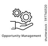 opportunity management vector... | Shutterstock .eps vector #597760520