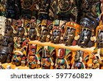 multitude of souvenirs showing... | Shutterstock . vector #597760829