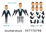 businessman character animation ... | Shutterstock .eps vector #597770798