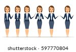 set of businesswoman character... | Shutterstock .eps vector #597770804