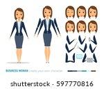 businesswoman character... | Shutterstock .eps vector #597770816