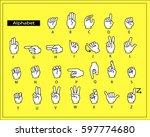 the white hands are doing... | Shutterstock .eps vector #597774680