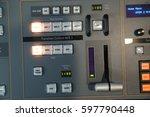 video broadcast editor watching ...   Shutterstock . vector #597790448