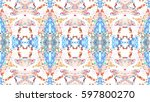 mosaic colorful artistic... | Shutterstock . vector #597800270