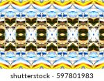 melting colorful symmetrical... | Shutterstock . vector #597801983