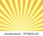 abstract yellow sun rays... | Shutterstock .eps vector #597805133