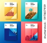 cover book design future ... | Shutterstock .eps vector #597807959