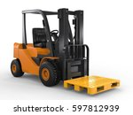 3d Rendering Forklift Truck...