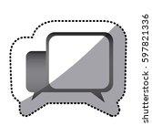grayscale square chat bubbles...