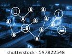 worldwide technology... | Shutterstock . vector #597822548