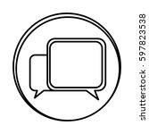 silhouette symbol square chat...