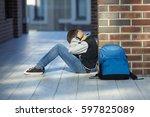 Schoolboy Crying In The Hallway ...