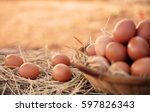 Many Fresh Chicken Eggs In The...