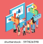 vector exhibition or promotion... | Shutterstock .eps vector #597826598