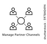 partner channels vector line... | Shutterstock .eps vector #597840494