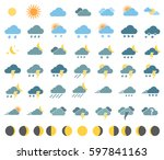 weather icons for weather... | Shutterstock .eps vector #597841163