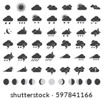weather icons set for weather...   Shutterstock .eps vector #597841166
