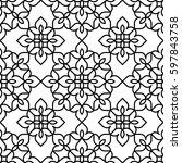 black and white background.... | Shutterstock .eps vector #597843758