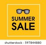 summer sale design template... | Shutterstock .eps vector #597844880