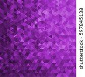 geometric purple background  ...   Shutterstock .eps vector #597845138