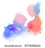 double exposure illustration.... | Shutterstock . vector #597848660