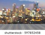 opening wooden floor  beautiful ... | Shutterstock . vector #597852458