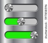 metal interface slider. green...
