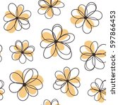 floral seamless pattern with...   Shutterstock .eps vector #597866453