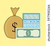count money vector. finance... | Shutterstock .eps vector #597900266