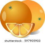 orange and orange lobster on... | Shutterstock .eps vector #597905903