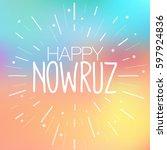 happy nowruz greeting card.... | Shutterstock .eps vector #597924836