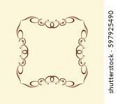 frames .vintage vector.well... | Shutterstock .eps vector #597925490