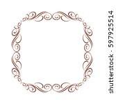 calligraphic frames .vintage... | Shutterstock .eps vector #597925514