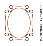 frames .vintage vector.well... | Shutterstock .eps vector #597925544