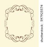 calligraphic frames .vintage... | Shutterstock .eps vector #597925574