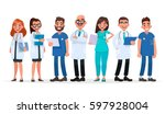 doctors. team of medical... | Shutterstock .eps vector #597928004