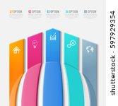 vector abstract 3d digital... | Shutterstock .eps vector #597929354