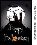 halloween illustration | Shutterstock . vector #59793781