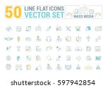 vector graphic set.icons in... | Shutterstock .eps vector #597942854
